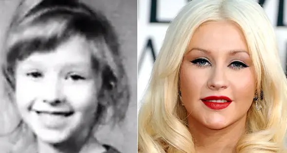 Christina Aguilera grew up in Rochester, Pennsylvania and looks adorable in her photo.