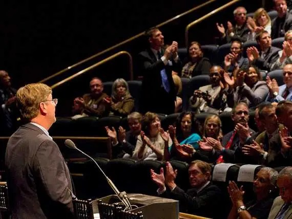 The key to great public speaking is preparation and audience awareness.