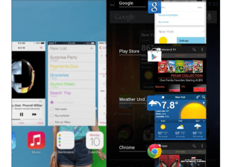 Like on Android, multitasking on iOS now shows a preview of each running application.
