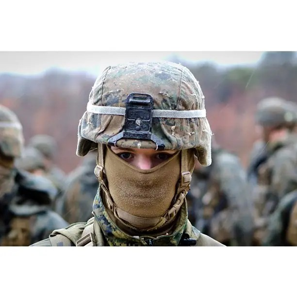 Balaclava to keep the dirt out of a Marine's face.