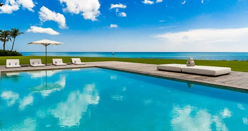 There are three pools on the property, and gorgeous views of the Atlantic Ocean.