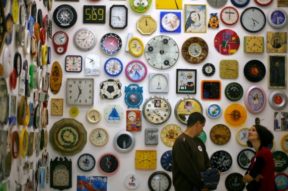 How many times a day does a clock's hands overlap?