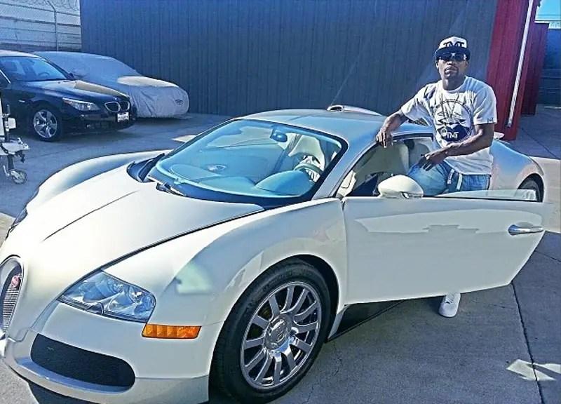 His $1,000,000+ Bugatti Veyron.