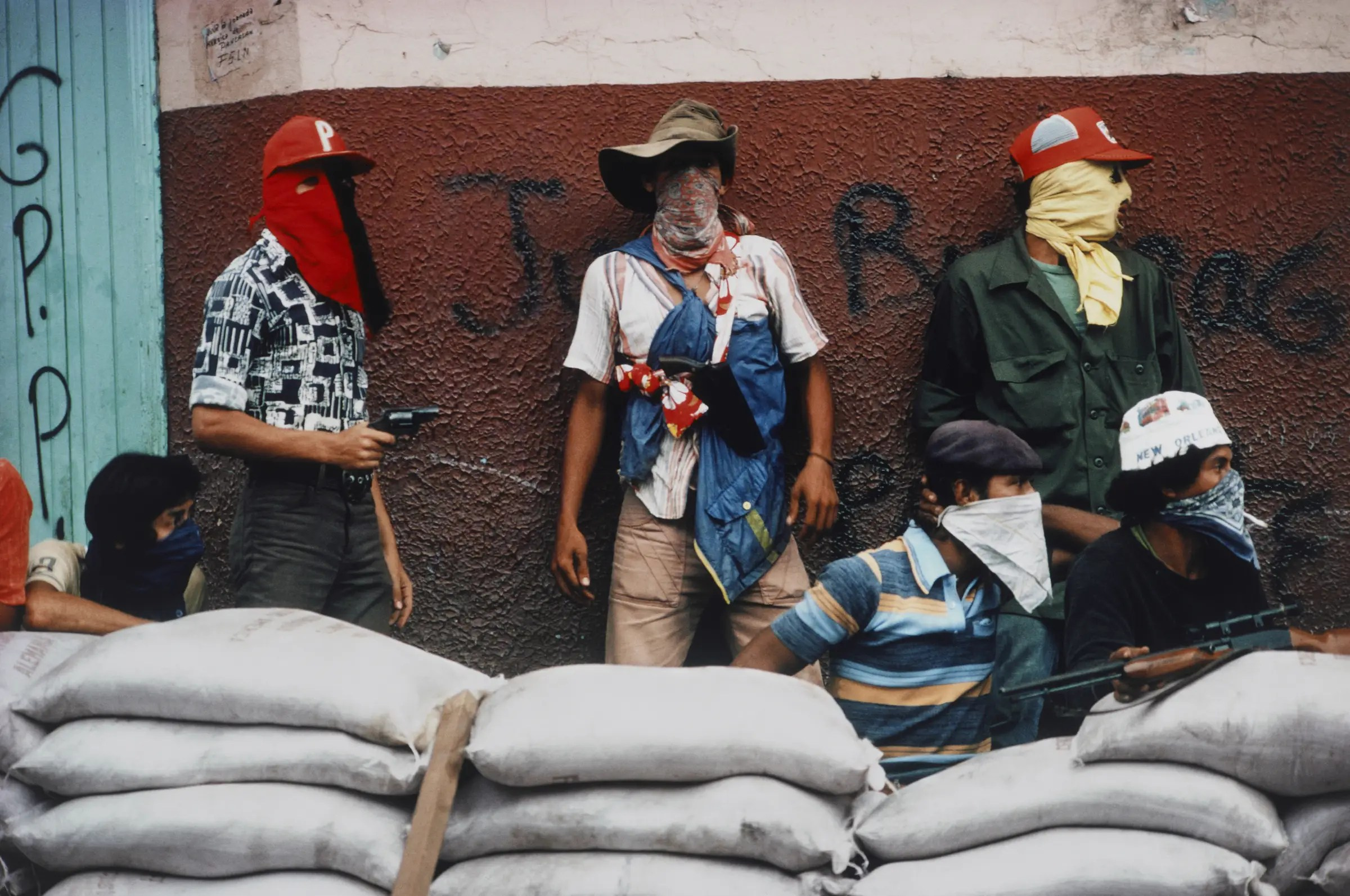 Muchachos await Counter Attack by the National Guard during the Nicaraguan Revolution in 1978.