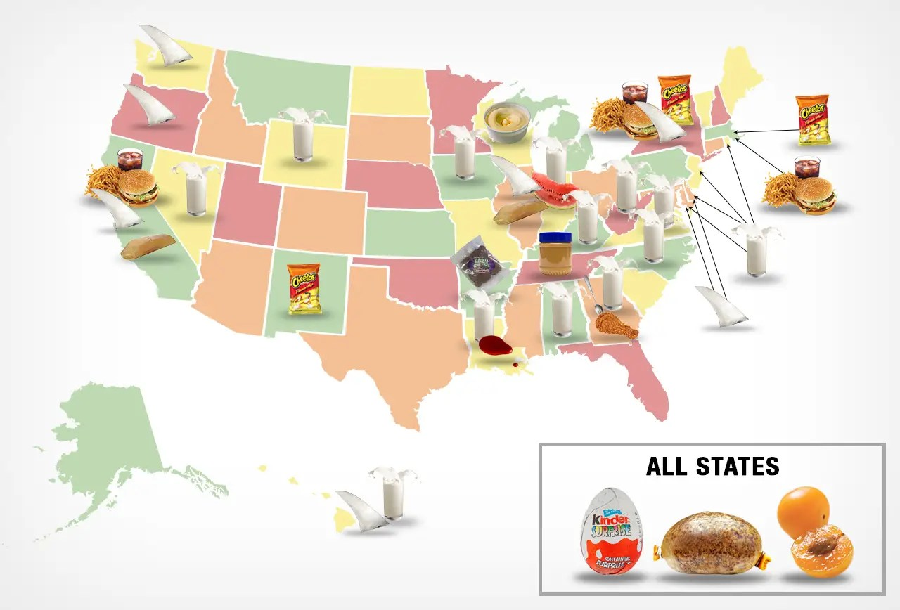 Map Banned Foods By State