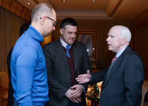 John McCain with the new-Nazi Svoboda