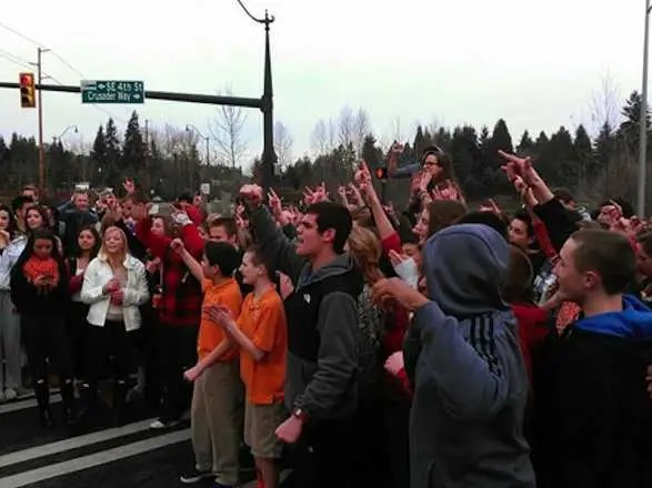 Eastside Catholic School Students Protest