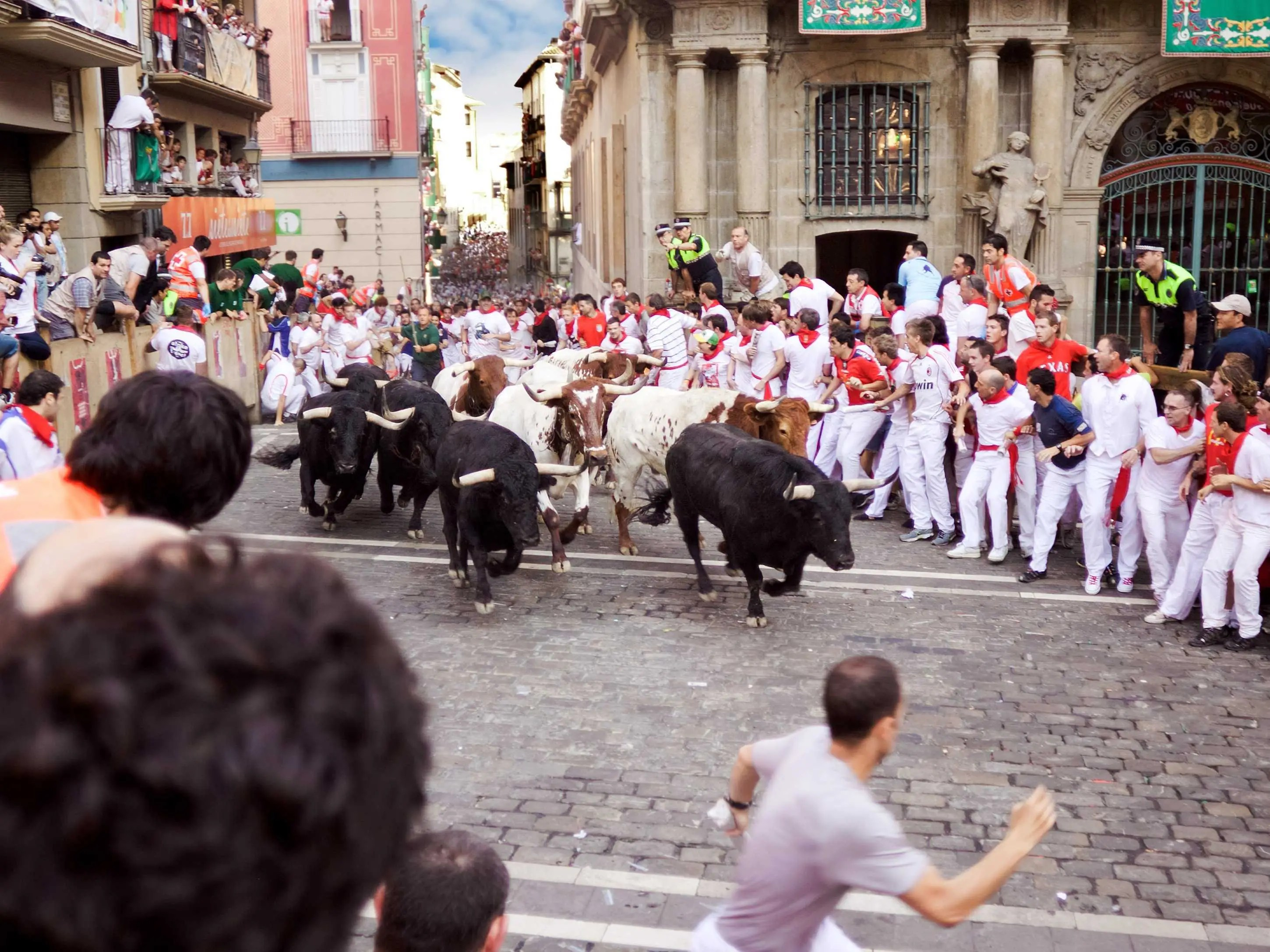 Run with the bulls in Pamplona, Spain.