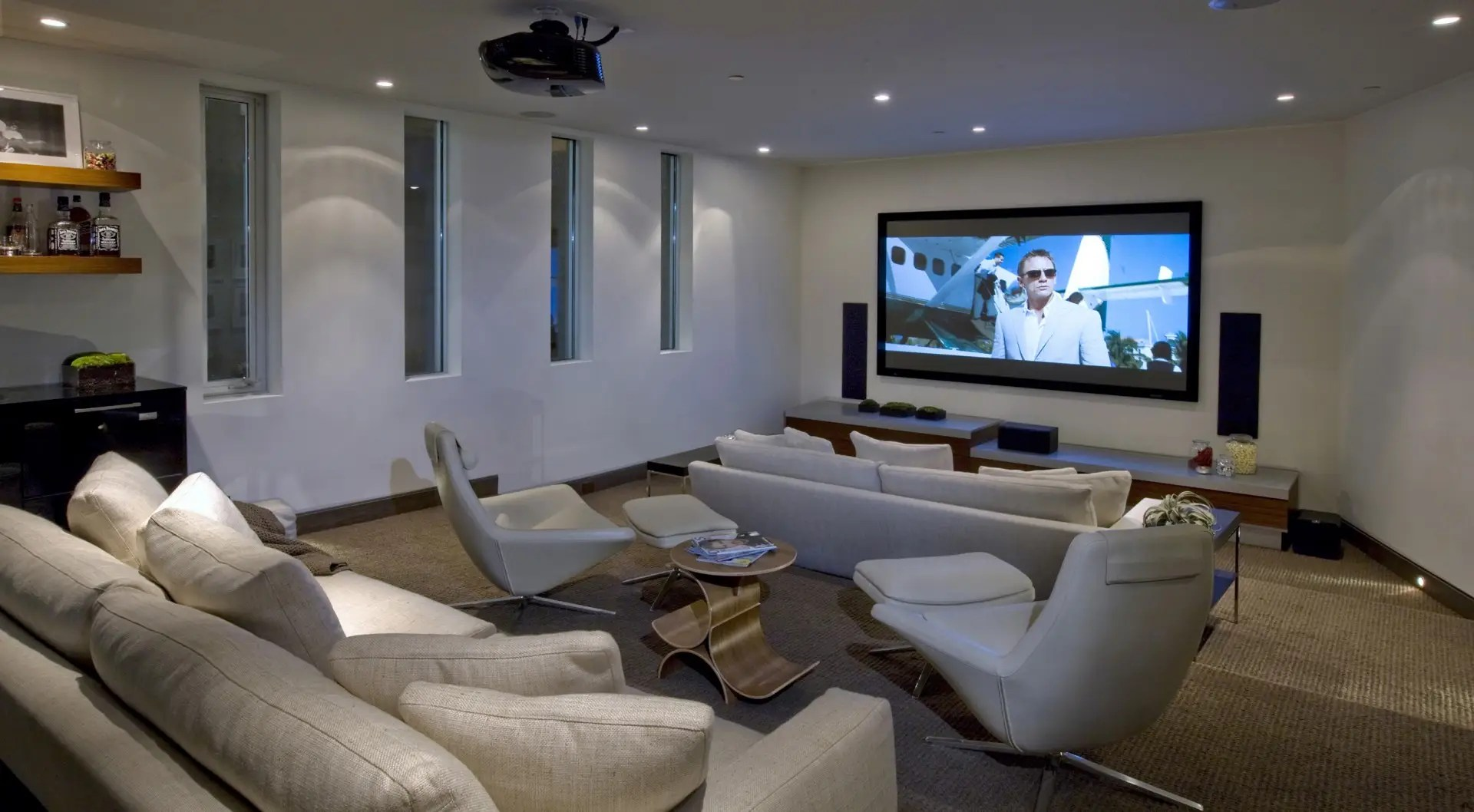 It includes a built-in home theatre.