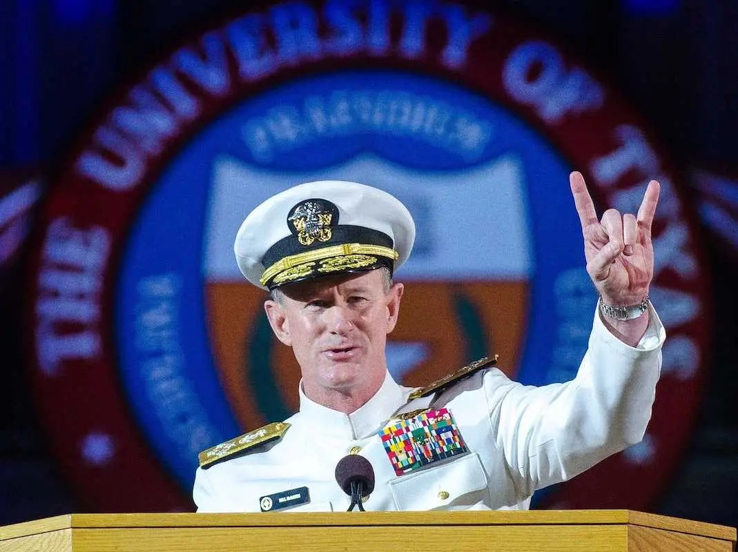 Navy SEAL Admiral Bill McRaven University Texas Austin Commencement Hook 'Em