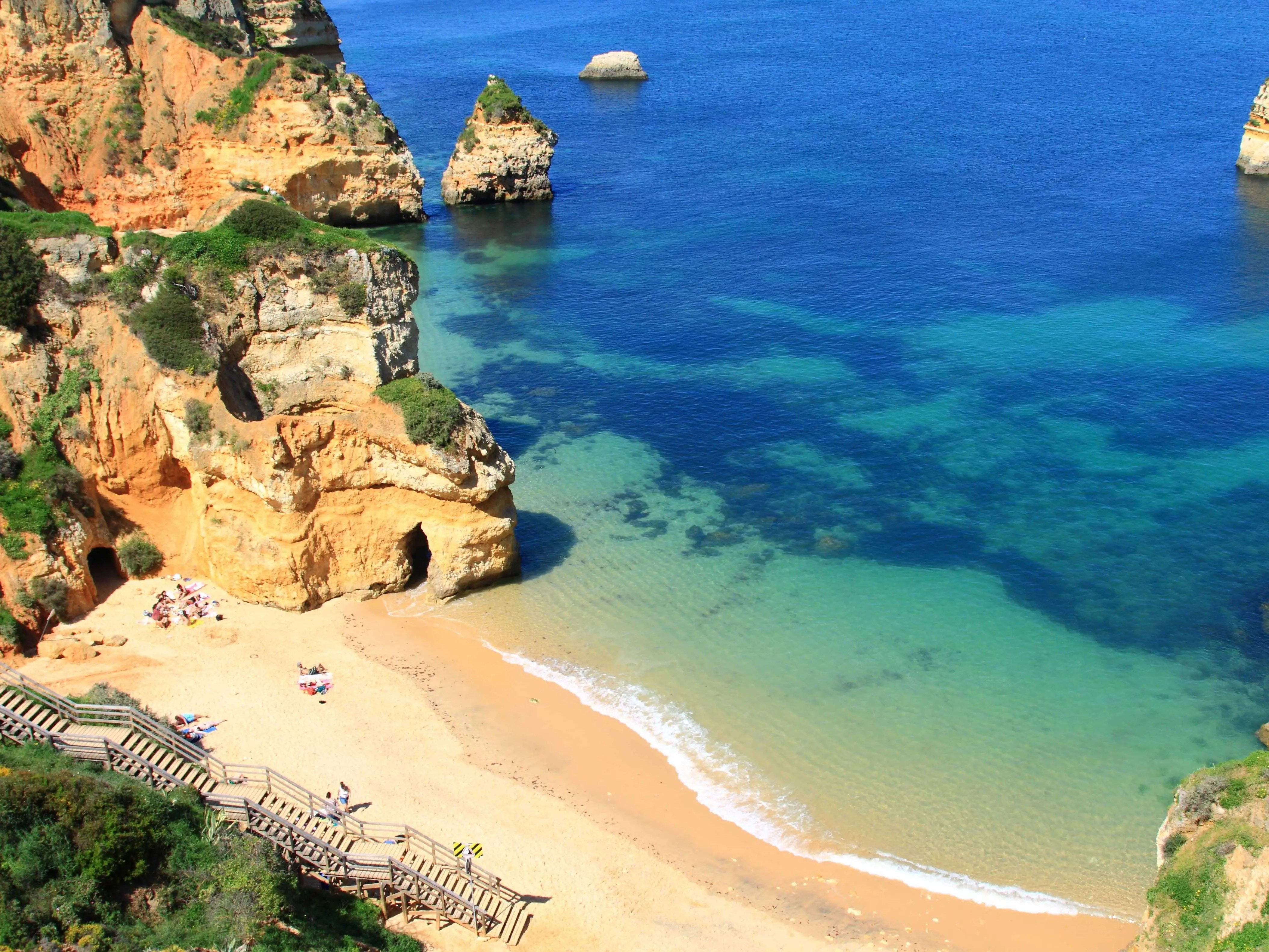 Lounge on the stunning beaches of Lagos, Portugal.