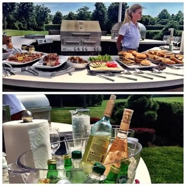 If you don't take a picture of your catered lunch in the Hamptons, did it even happen?