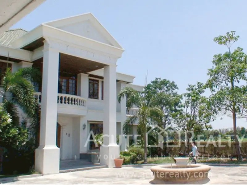 In Bangkok, $967,000 pays for a furnished five-bedroom, six-bathroom house on nearly 5,000 square feet of land with a massive living room and beautiful views.
