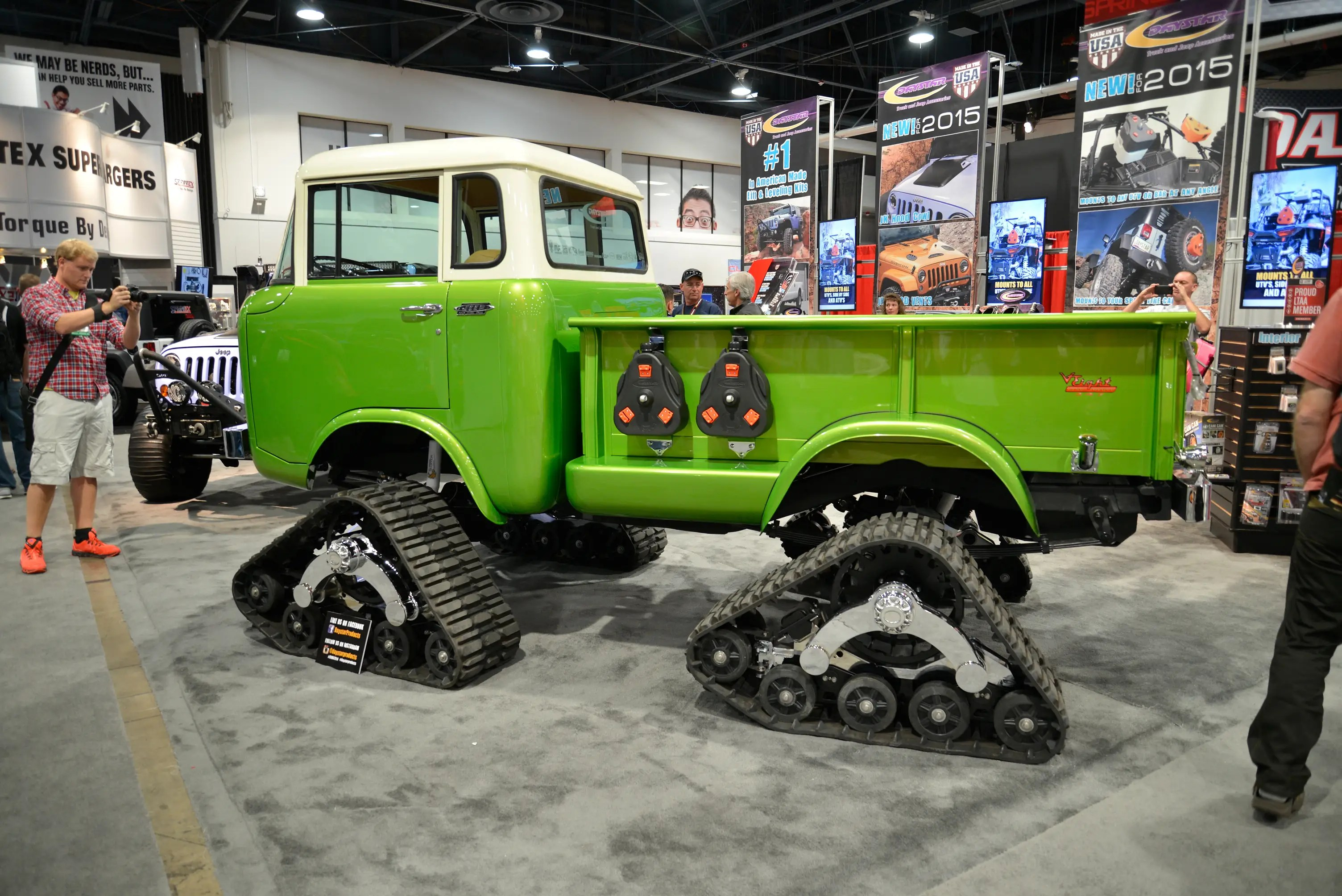 Classics like this Daystar Jeep Forward Control truck with tank tracks ...