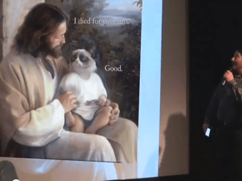 Grumpy Cat and Jesus