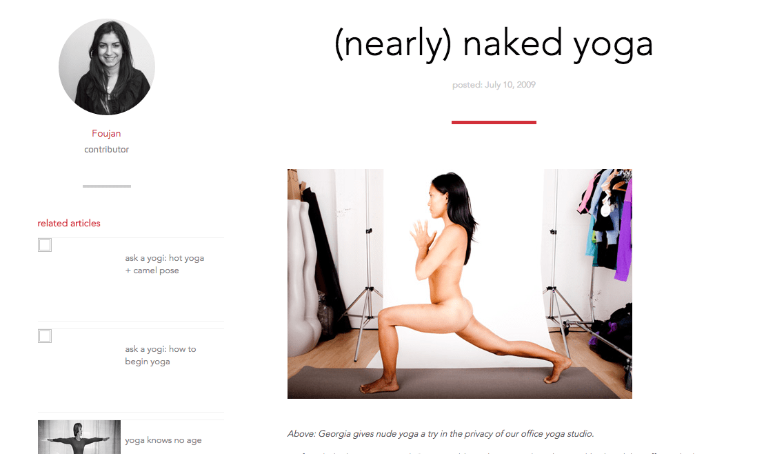 Some believe working at Lululemon is like being in a cult. This Lululemon staffer wrote on the company blog about a naked yoga session she attended.