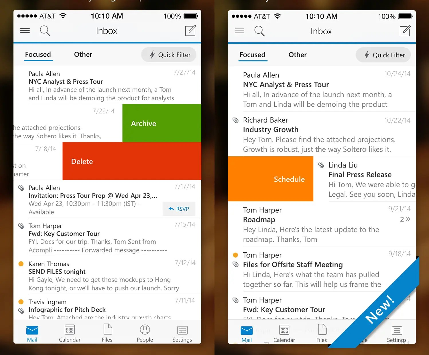 Microsoft Outlook is an email app for getting things done.