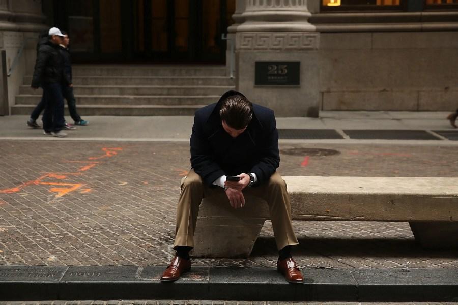 wall street trader sad