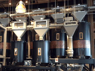 The Roastery offers a chance to see the entire process of creating coffee, from the silos of green, unroasted beans to the finished cup.