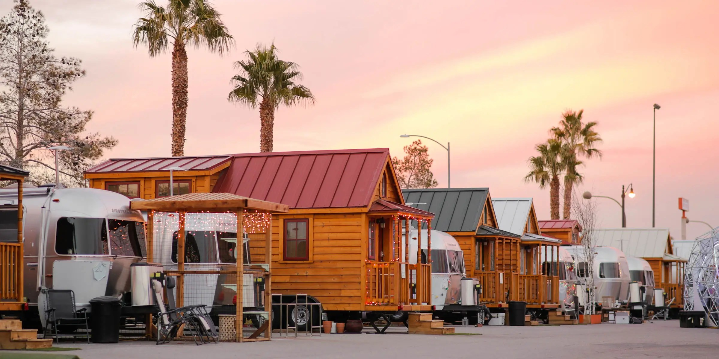 Outside Las Vegas, Nevada, the couple had the time of their lives at Llamapolis, a community of Airstreams trailers and tiny houses. The Zappos CEO calls it home.