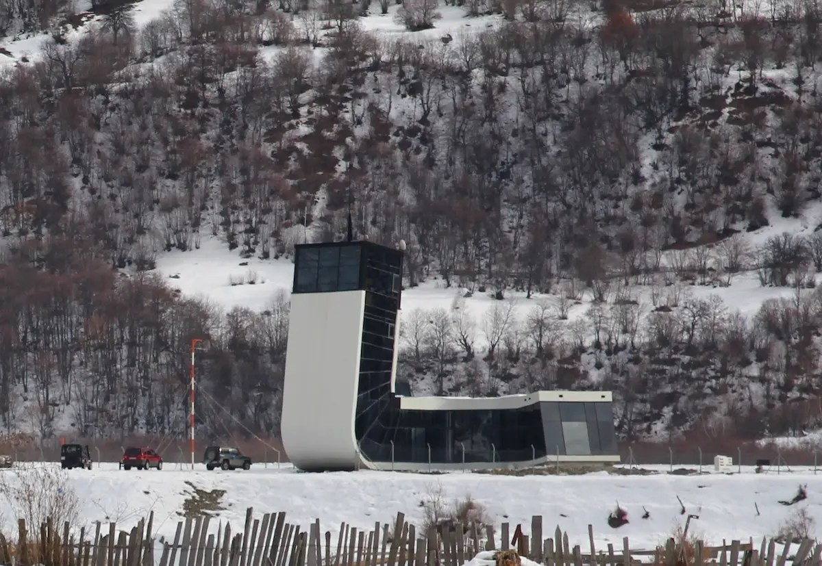 44. Mestia Airport in Georgia, which serves passengers visiting a nearby ski resort, was designed in just three months.