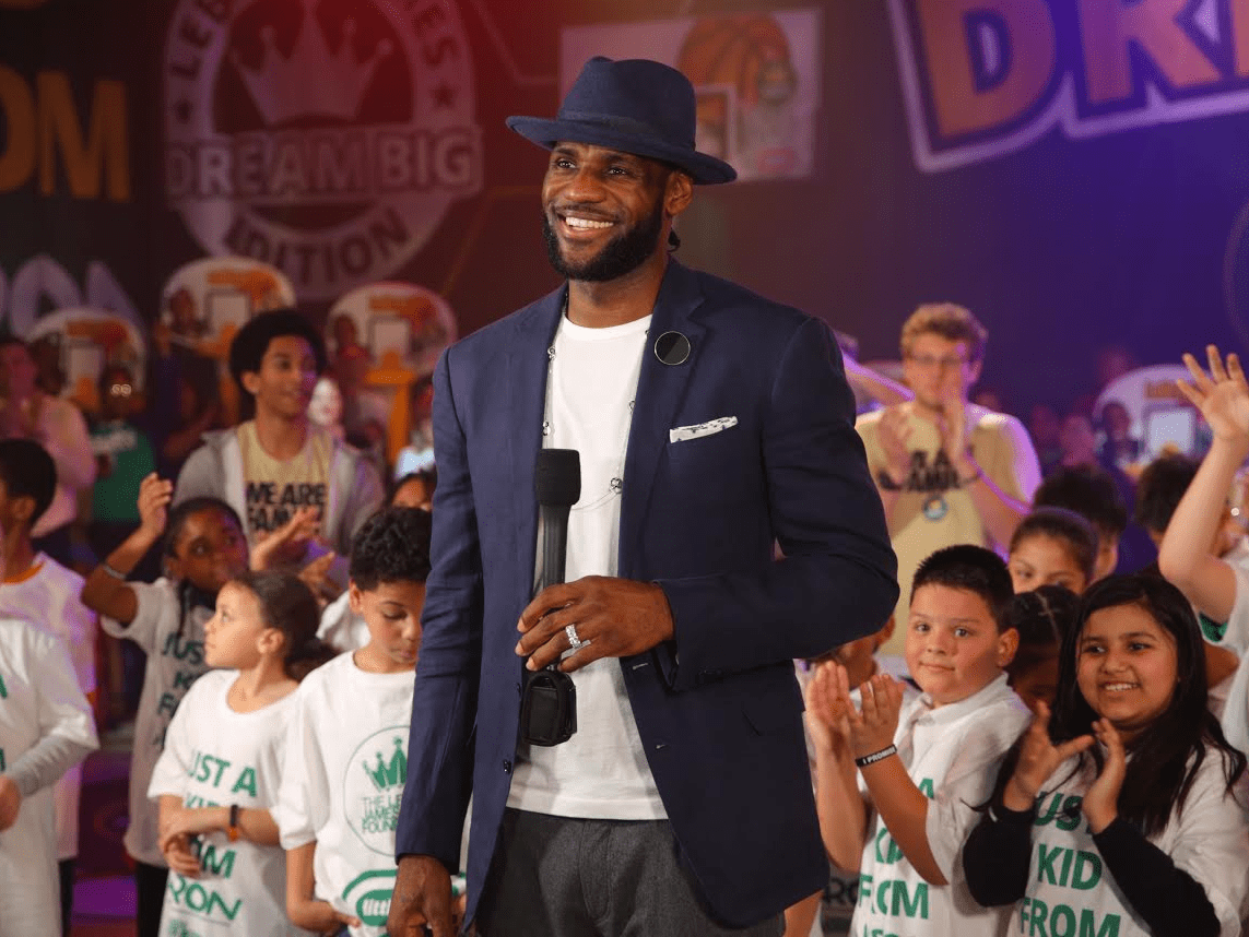 LeBron James kids children LeBron James Family Foundation