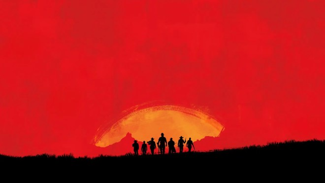 the imagery of seven cowboys is repeatedly used in rockstars marketing for the coming game this was the first teaser image released by rockstar - جديد لعبة Red Dead Redemption II 2018