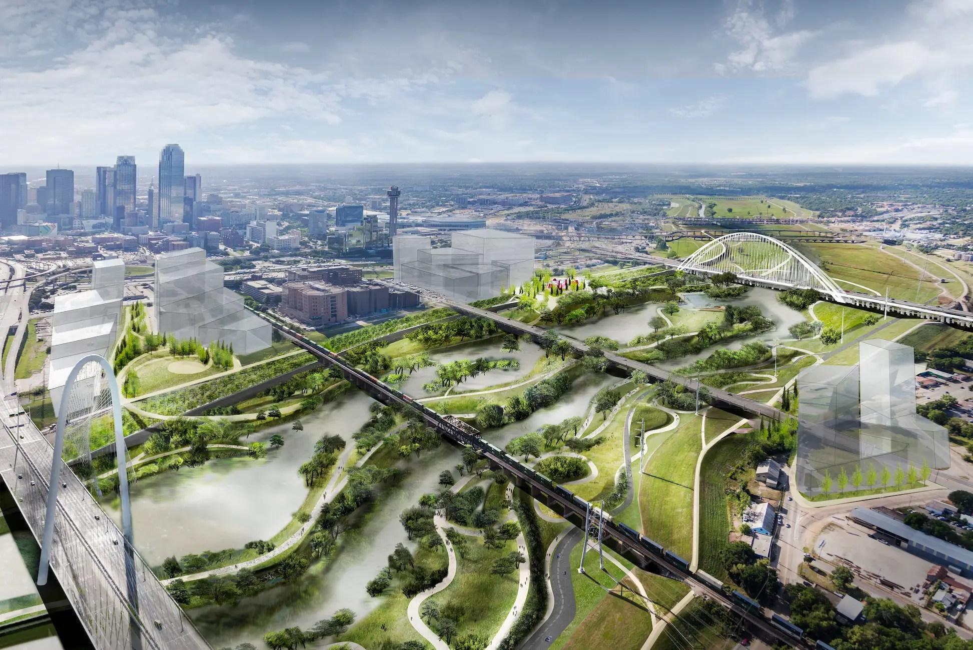 The Trinity River Project in Dallas, Texas.