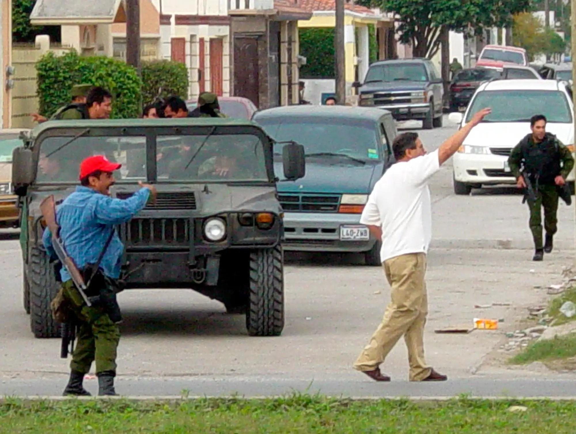 Osiel Cardenas Guillen Matamoros Mexico shootout arrest humvee