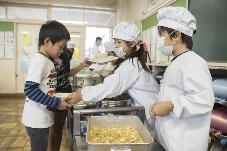 Kids also serve one another in an effort to reinforce a culture of self-sufficiency. In many schools, there is no janitor. Kids learn to pick up after themselves.