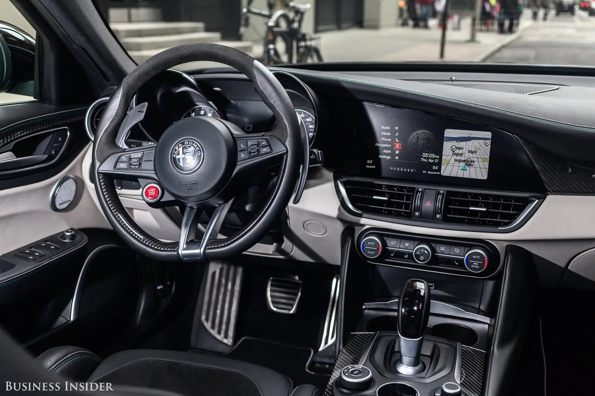 The cockpit is fairly no-nonsense, with easy-to-use controls and a comfortable, well-bolstered driver's seat.
