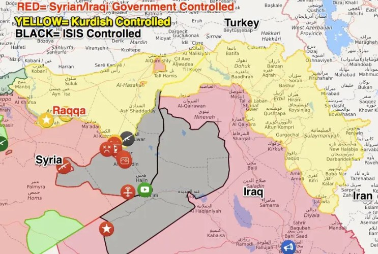 Image result for Syria with ISIS