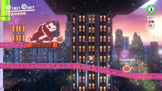 Donkey Kong himself, in all his original 8-bit glory: