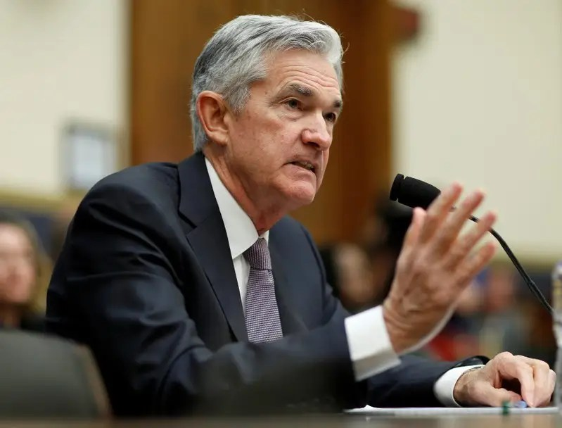 Federal Reserve Chairman Jerome Powell delivers the semi-annual Monetary Policy Report to the House Financial Services Committee hearing in Washington, U.S., February 27, 2018.      REUTERS/Joshua Roberts