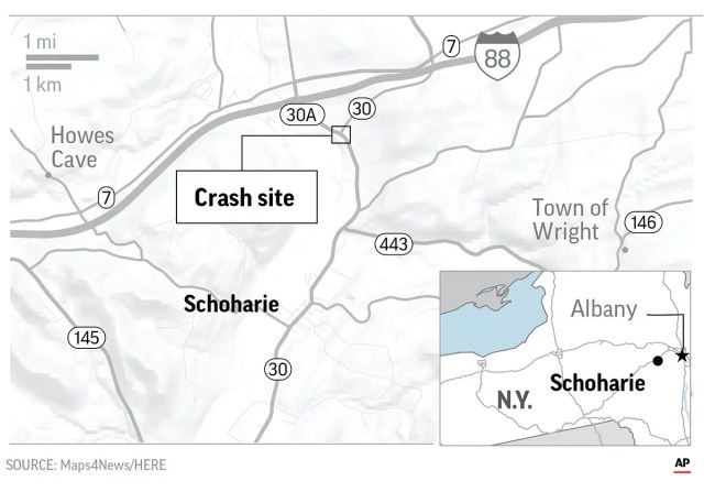 limo crash new york map