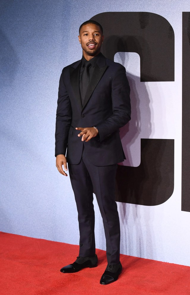 Michael B. Jordan attends the European Premiere of 'Creed II' at BFI IMAX on November 28, 2018 in London, England. (Photo by Jeff Spicer/Getty Images)