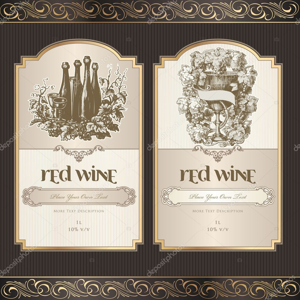 Wine Lable Template free printable free labels design templates – Free Wine Label Design