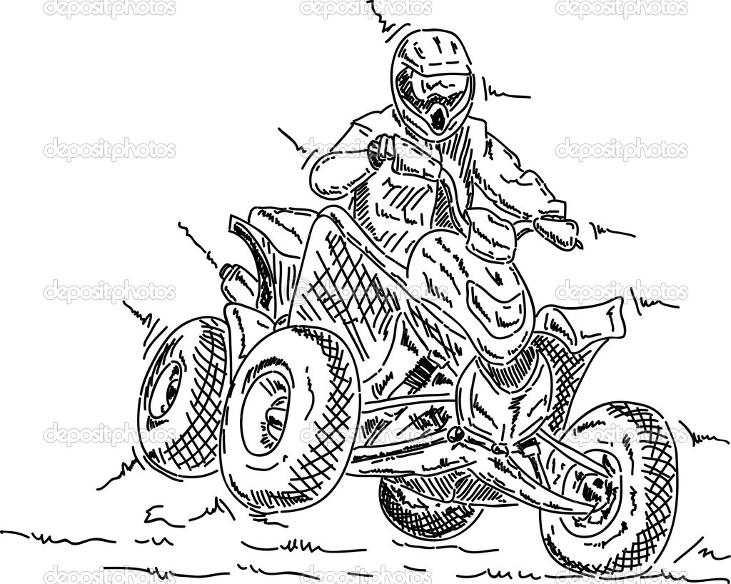 Polaris Four Wheeler Coloring Pages Coloring Pages