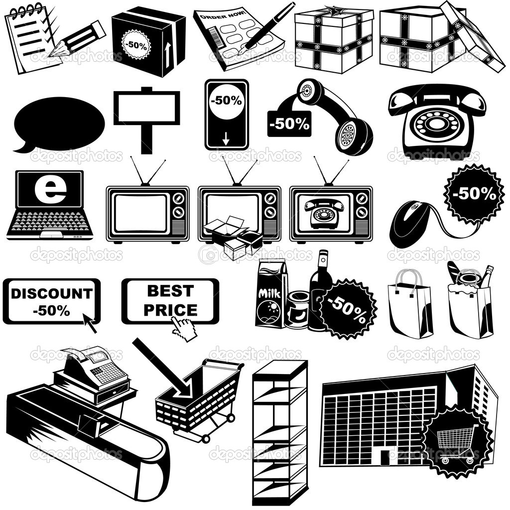 Shop Pictogram Icons 2