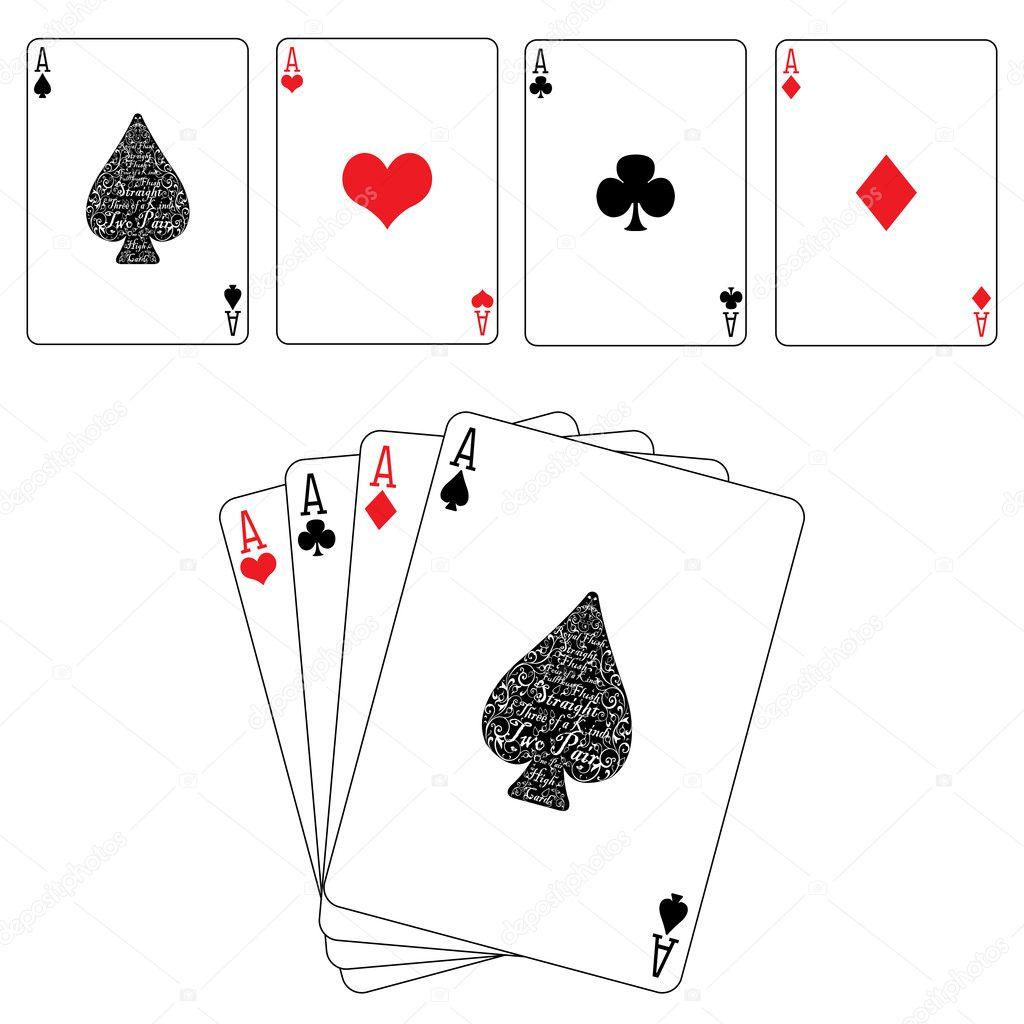 Card Spades Diamonds Hearts Clubs Ace
