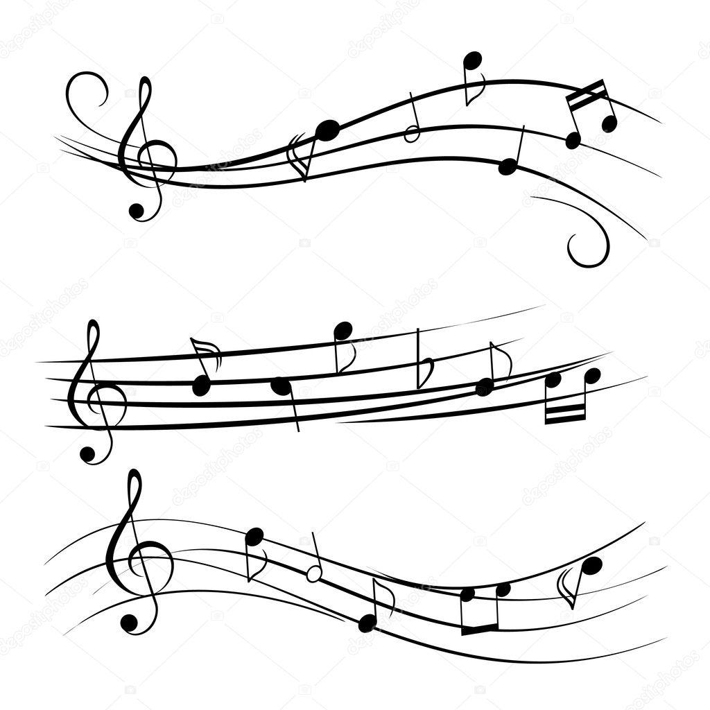 music notes stock vector soleilc 5984736