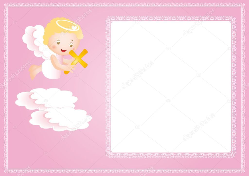 Cute Baptism Invitation
