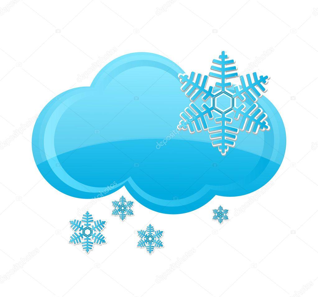 weather symbol blue stock vector kednert