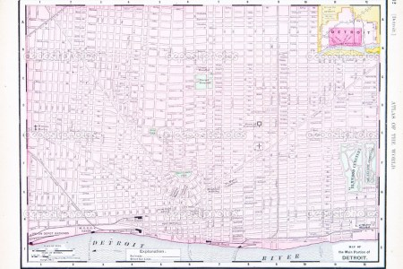 detroit city map street » Full HD MAPS Locations - Another World ...