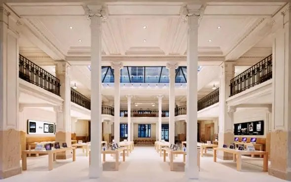 The interior of Apple's other store in Paris is crazy looking