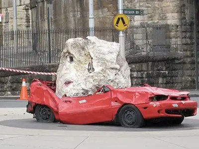 crushed car
