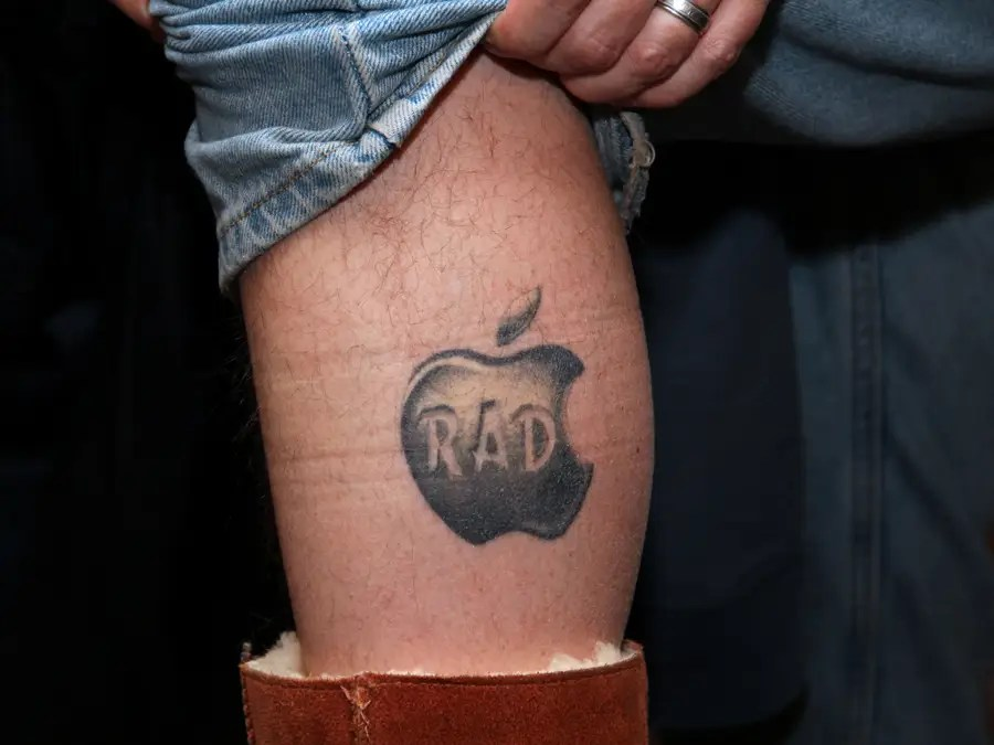 """Here's a close-up. Why? """"Because it's Apple and it's awesome,"""" he said."""