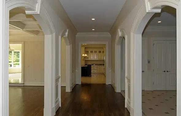 First-floor hallway