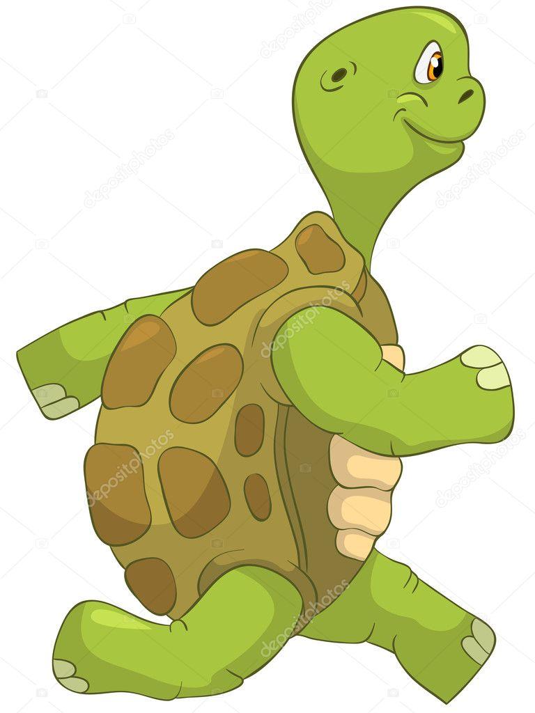 tortuga graciosa corriendo vector de stock rastudio 10477475