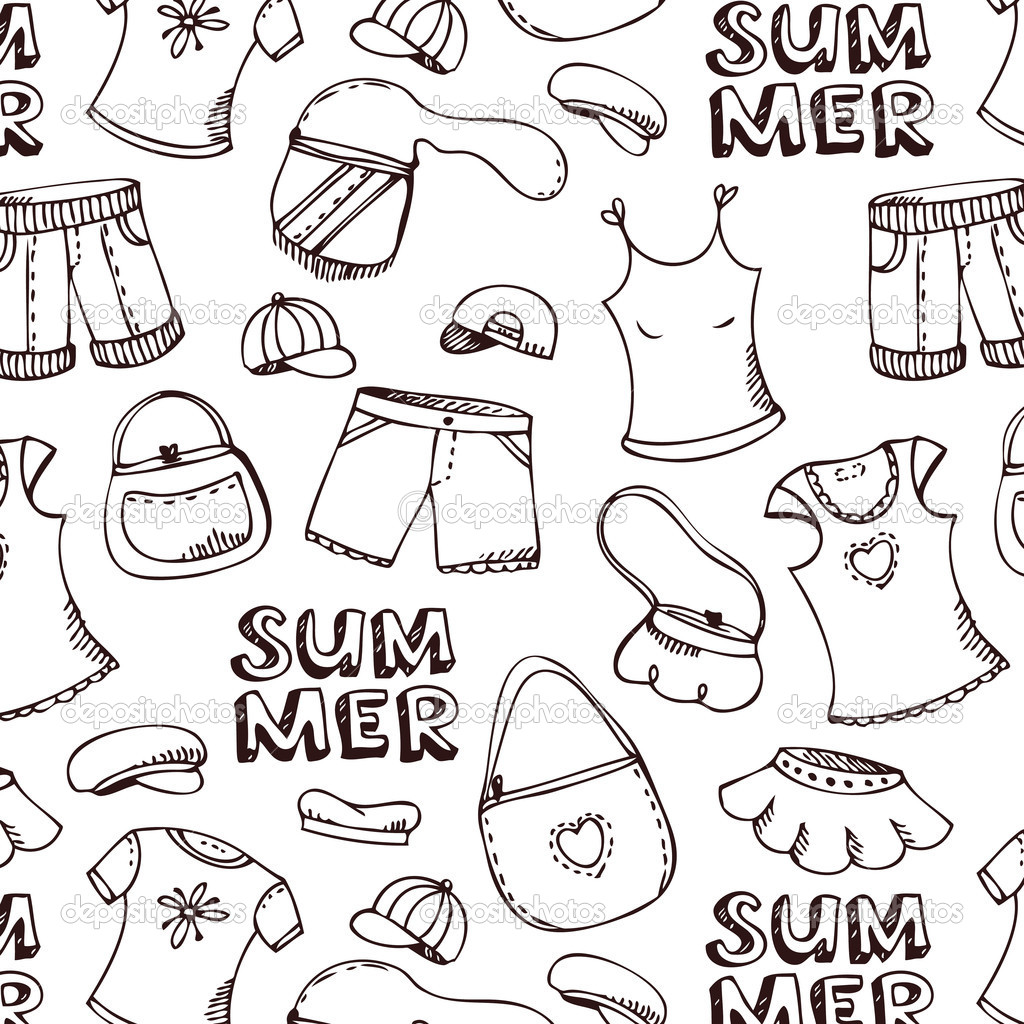 Printable Summer Clothes Coloring Pages Page Galleryhip The